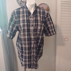 Basic editions men's button down short sleeve